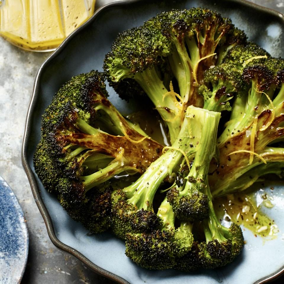 Roasted Broccoli with Lemon-Garlic Vinaigrette