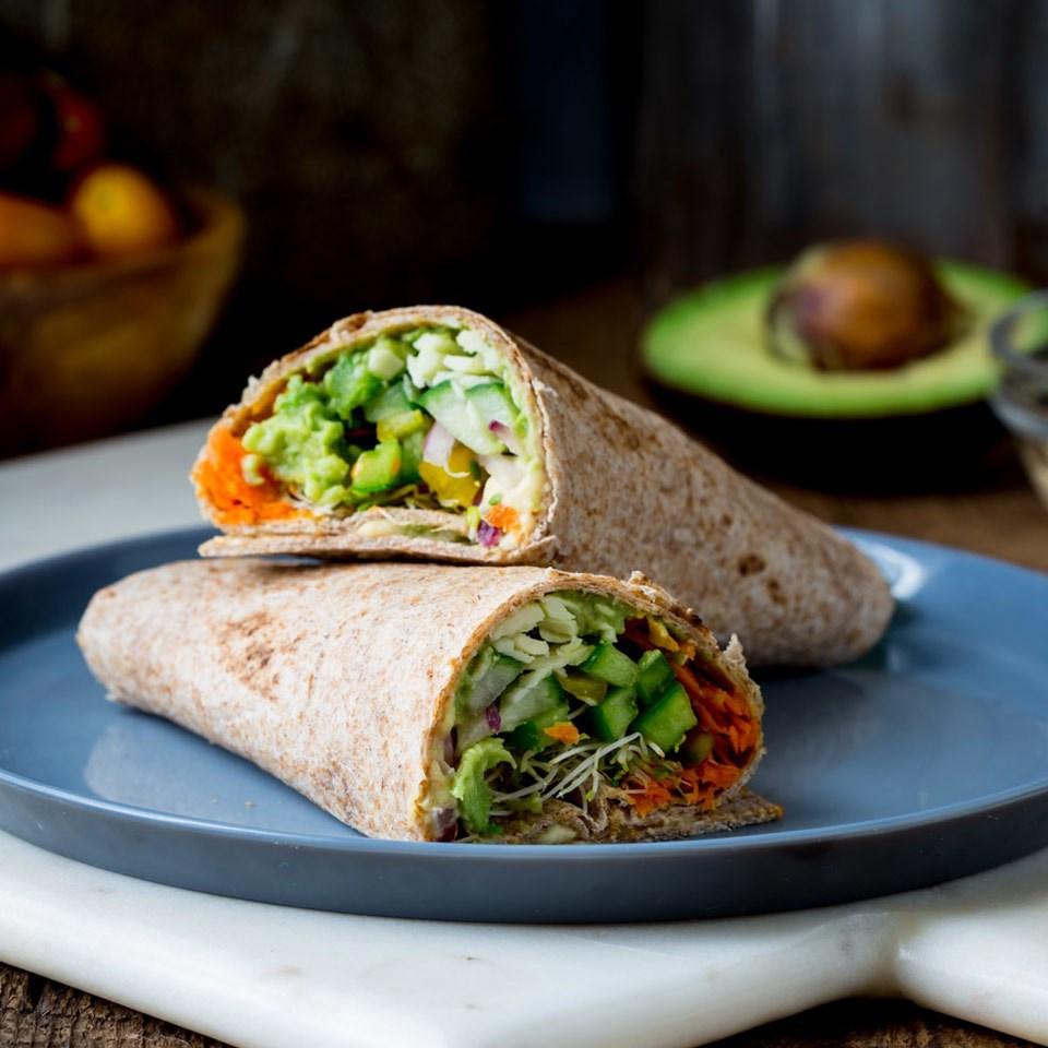 Whole-Wheat Veggie Wrap