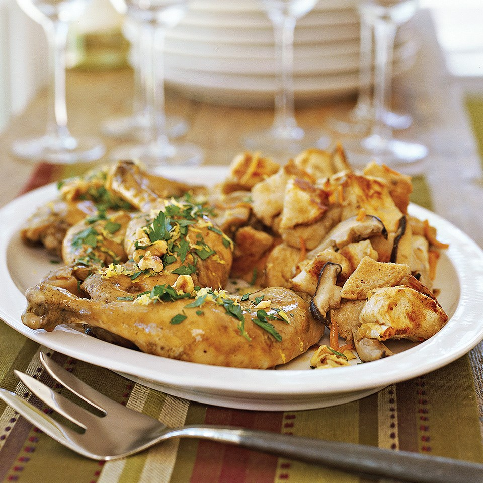 Lemon Chicken with Stuffing