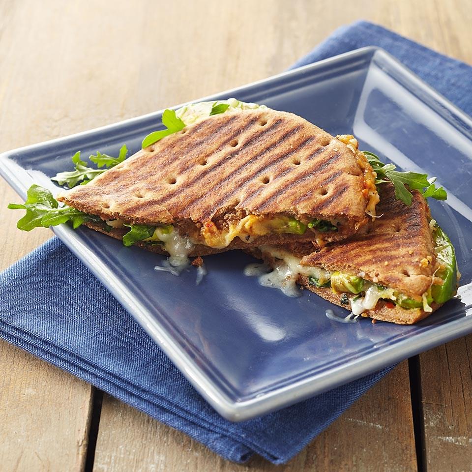 Hummus and Avocado Salad Sandwiches
