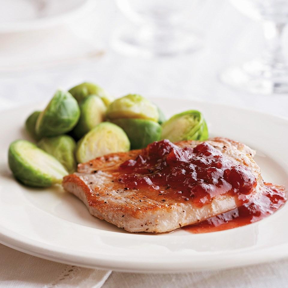 Cranberry Pork Loin Chops
