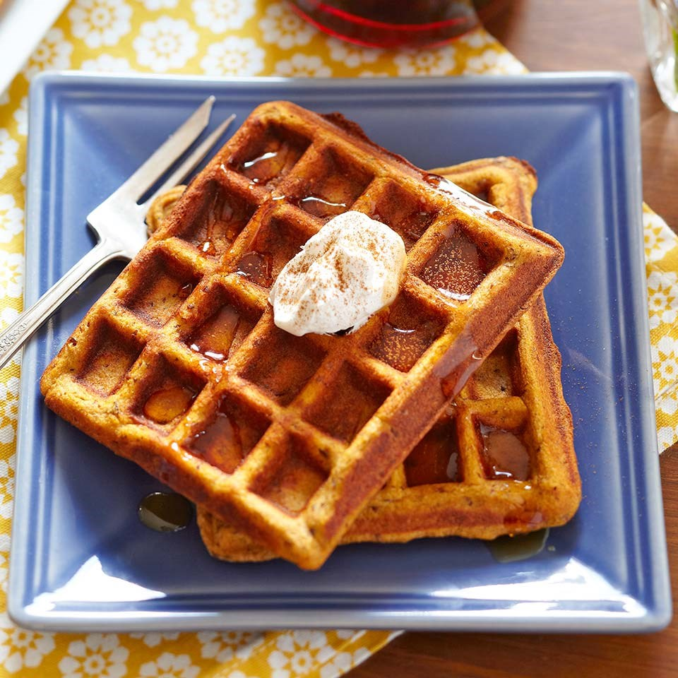 Gluten-Free Pumpkin Waffles Recipe - EatingWell
