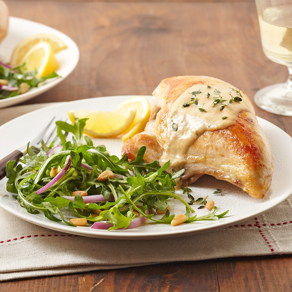 Chicken Breasts with Lemon Thyme Cream