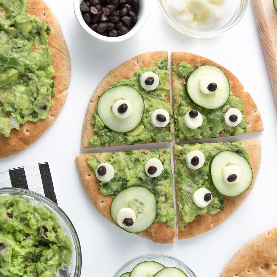 No-Bake Monster Pita Pizza