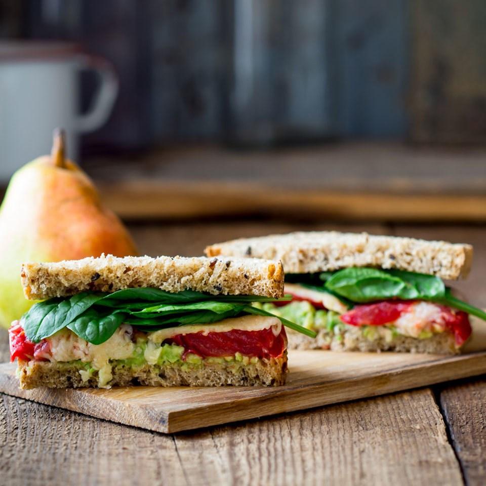 tomato avocado cheese sandwich