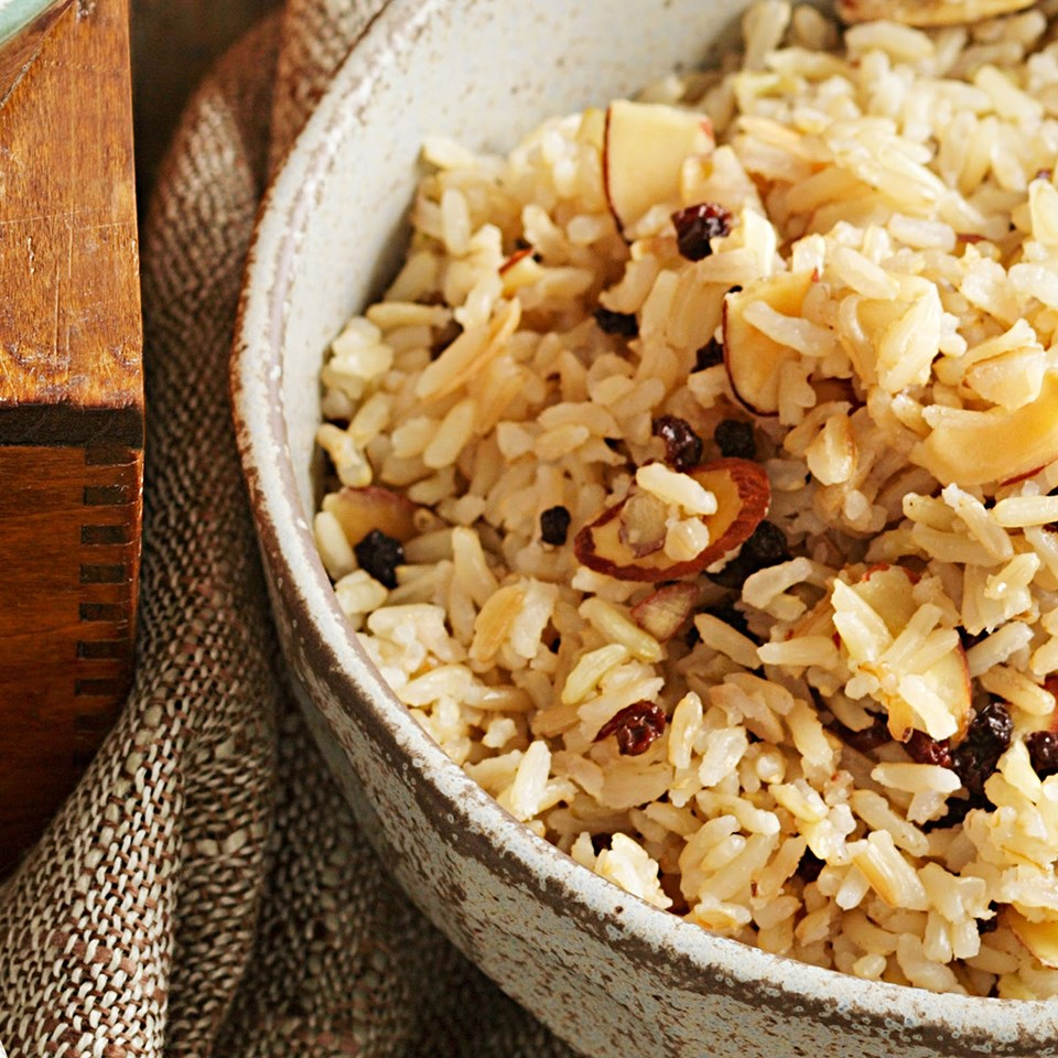 brown rice pilaf recipe eatingwell. Black Bedroom Furniture Sets. Home Design Ideas