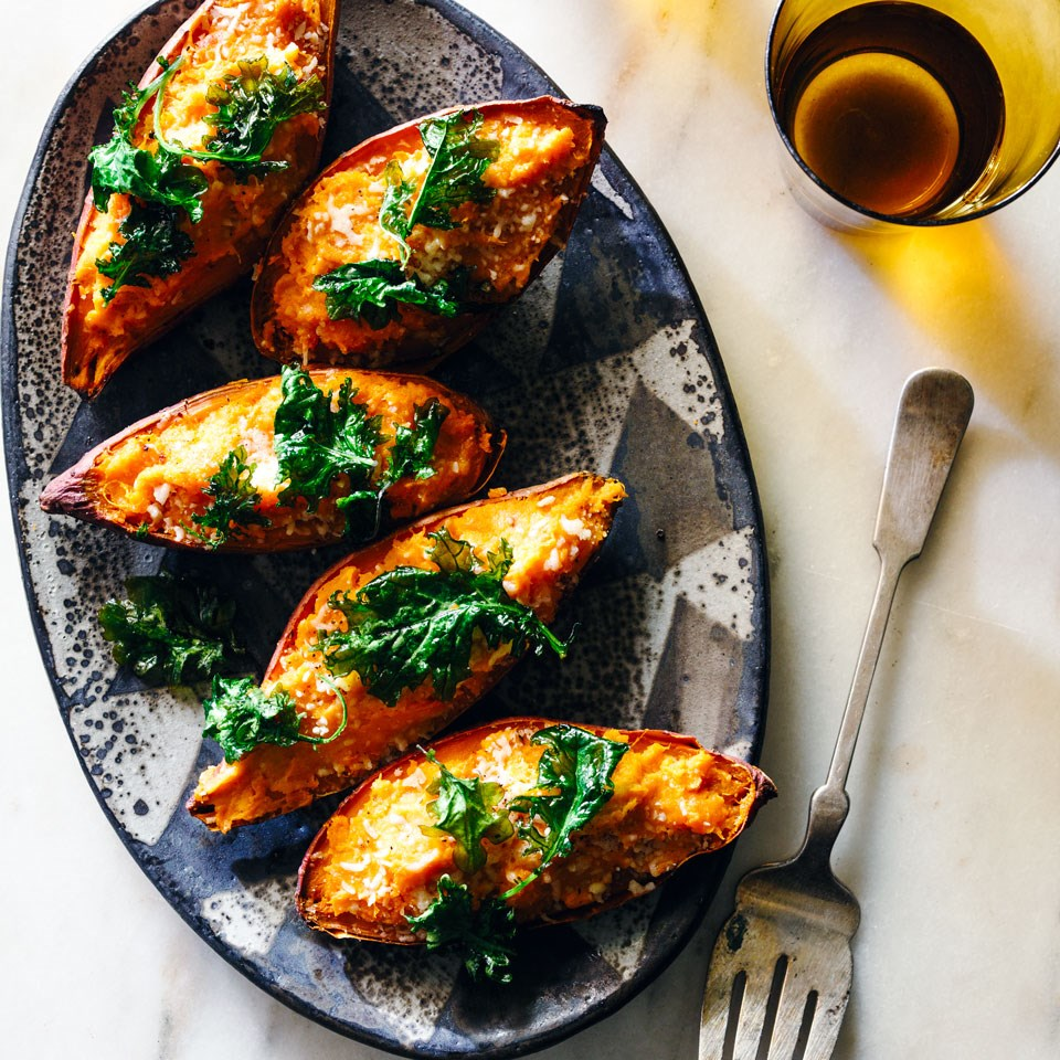 Roasted Yams: Twice-Baked Sweet Potatoes Recipe