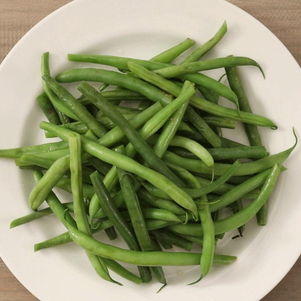 Microwaved Fresh Green Beans Recipe
