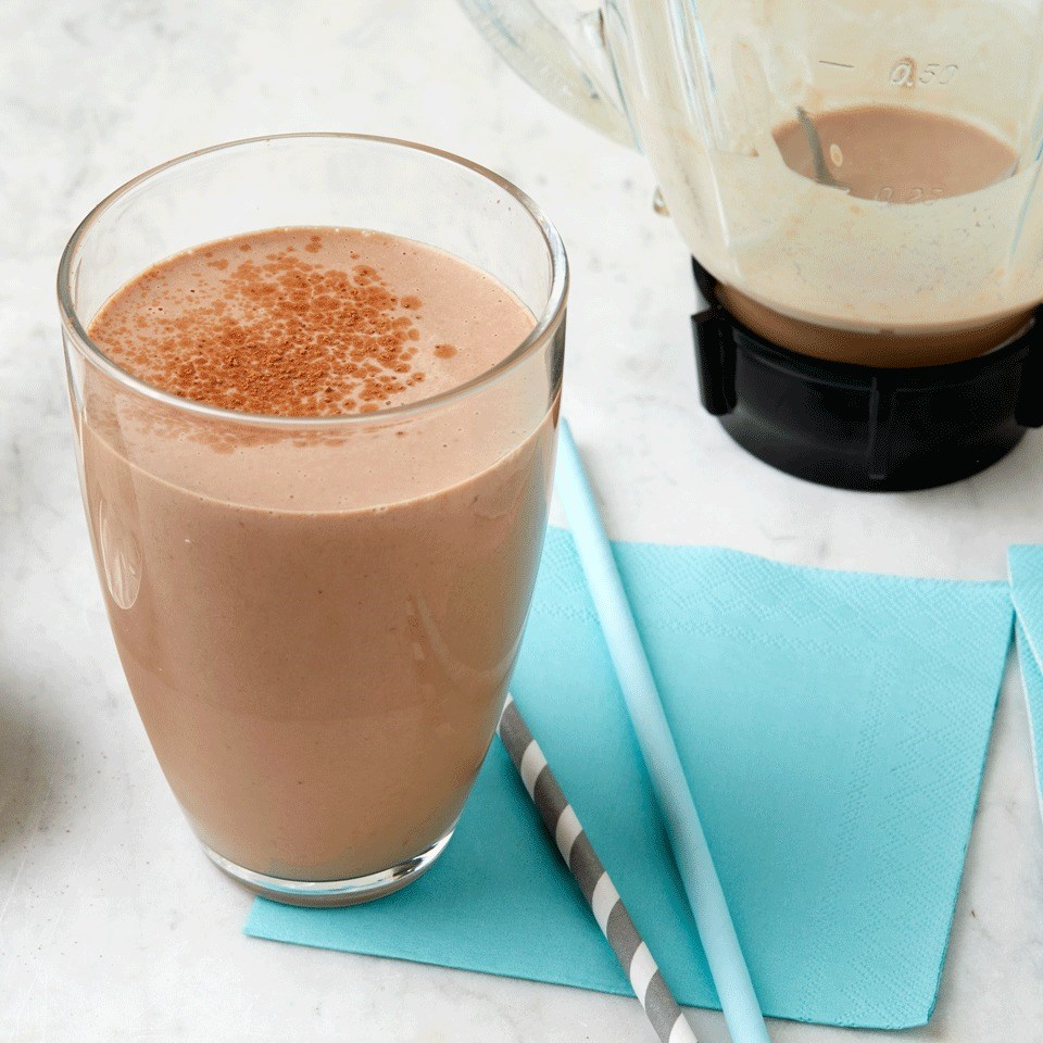 Chocolate-Peanut Butter Protein Shake Recipe - EatingWell