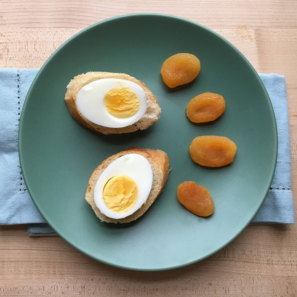 Egg-Topped Baguette with Apricots