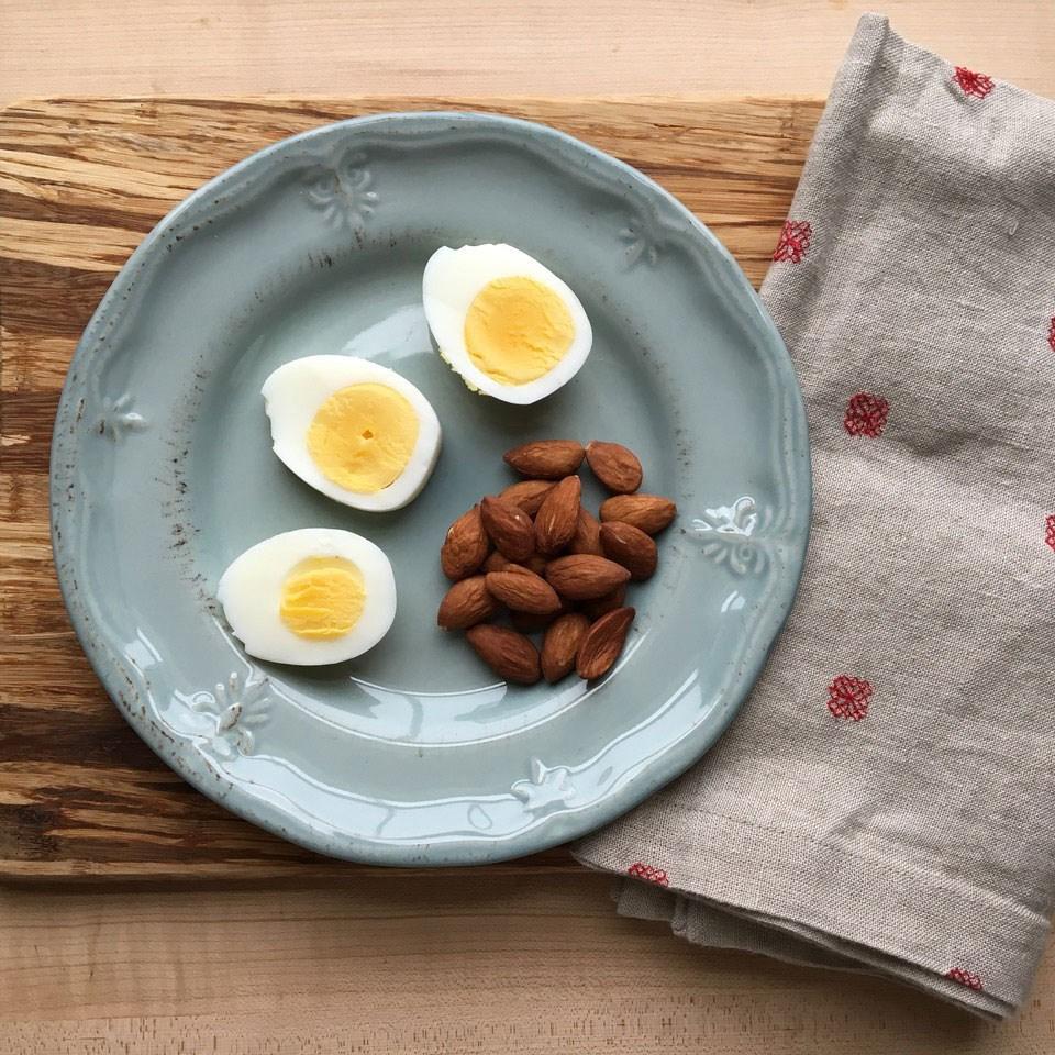 Hard-Boiled Egg & Almonds