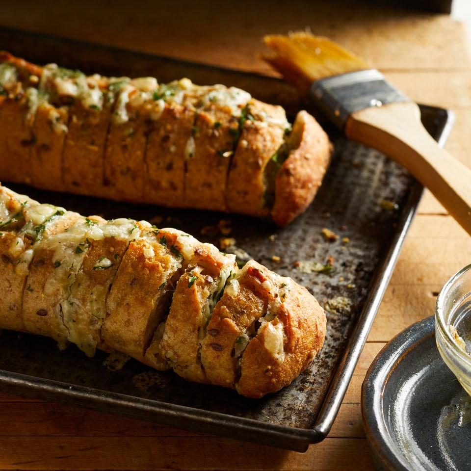 Hasselback Cheesy Garlic Bread