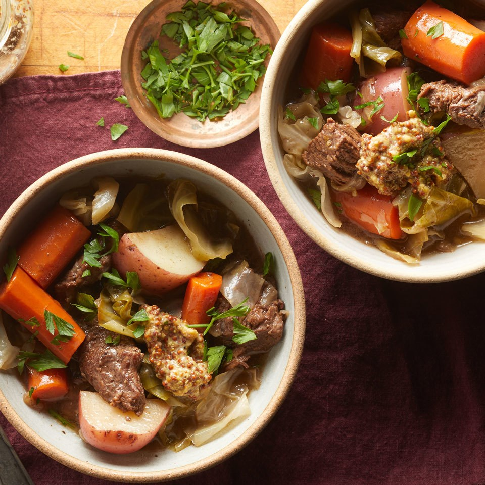 """Slow-Cooker """"Corned Beef"""" & Cabbage"""