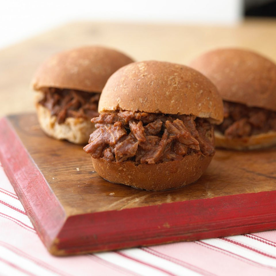 Pressure-Cooker Barbecue Beef Sandwiches