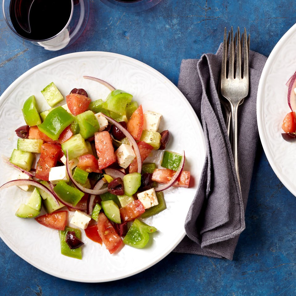 Traditional Greek Salad Recipe - EatingWell