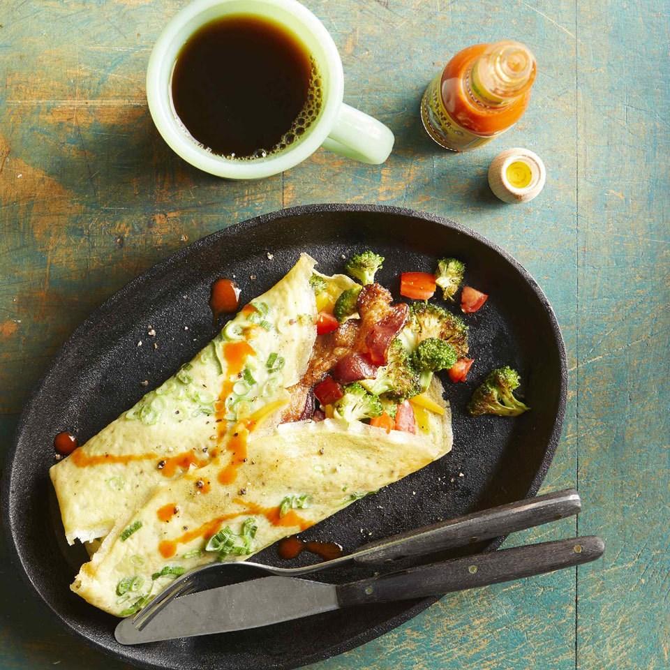 Low-Carb Bacon & Broccoli Egg Burrito