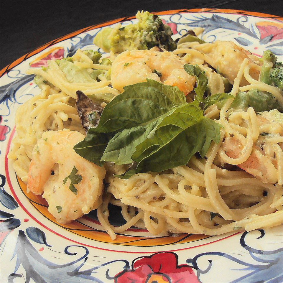 Angel Hair Pasta with Garlic Shrimp and Broccoli Robbie Rice