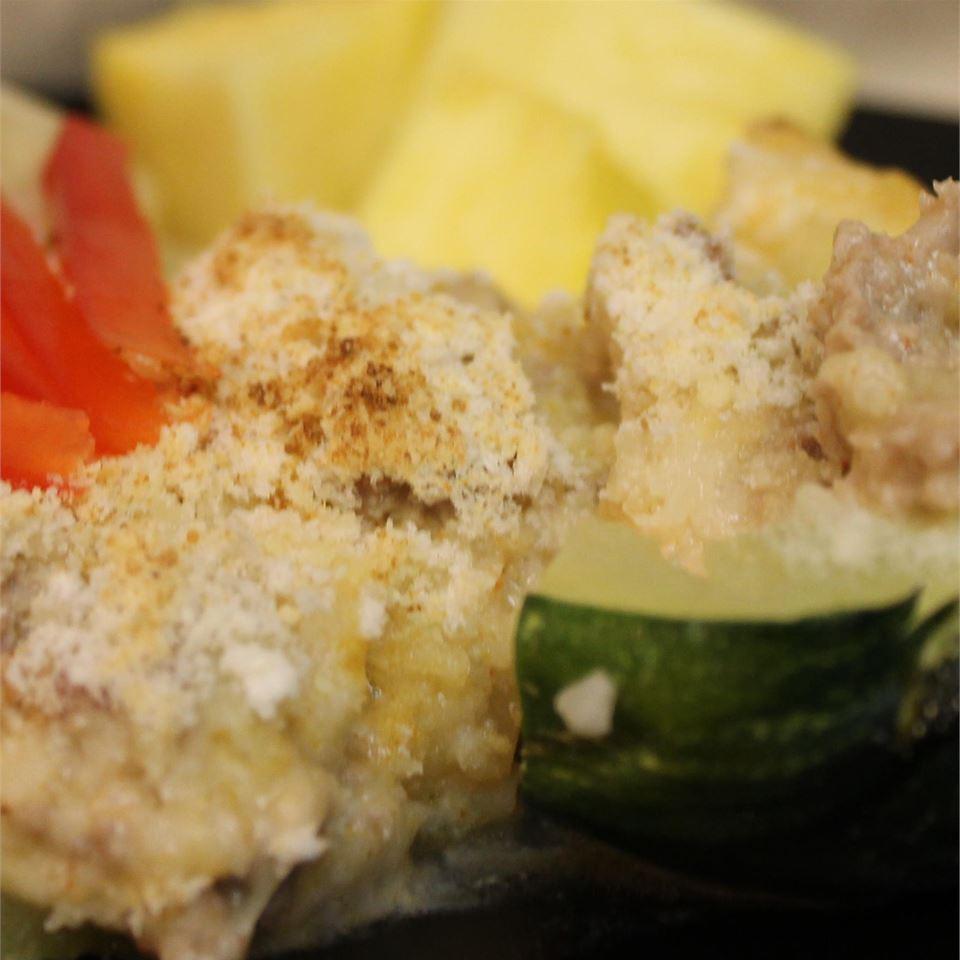 Creamy Meat-Stuffed Zucchini PattyQ