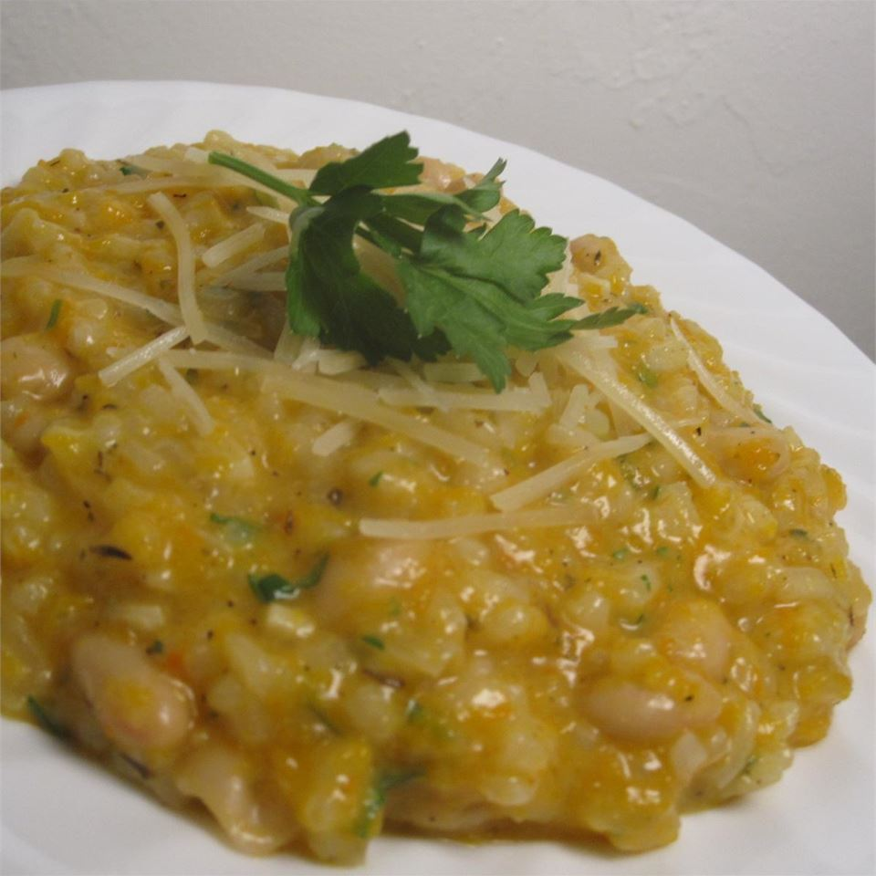 Risotto with Butternut Squash and White Beans