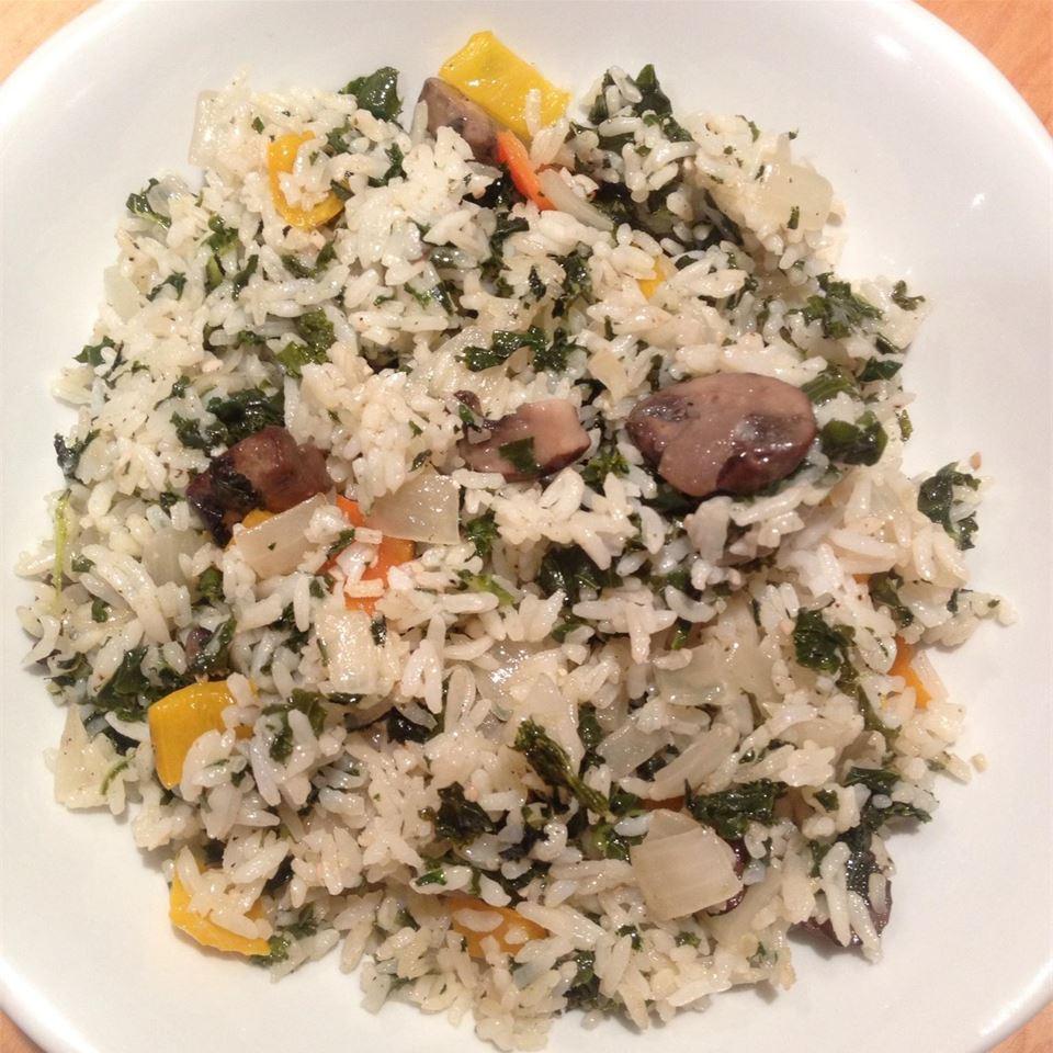 Creamy rice, chicken and spinach dinner recipe