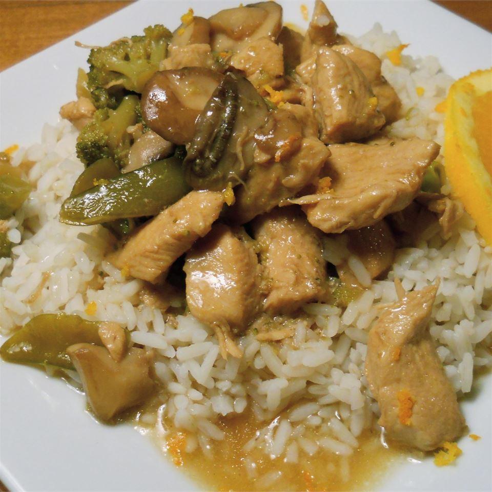 Citrusy Chicken and Broccoli