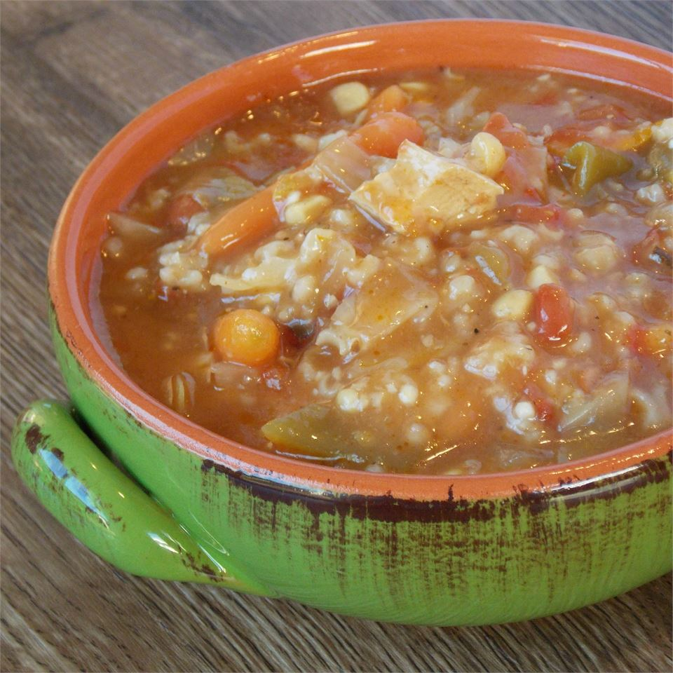 Zippy and Tangy Turkey Rice Soup