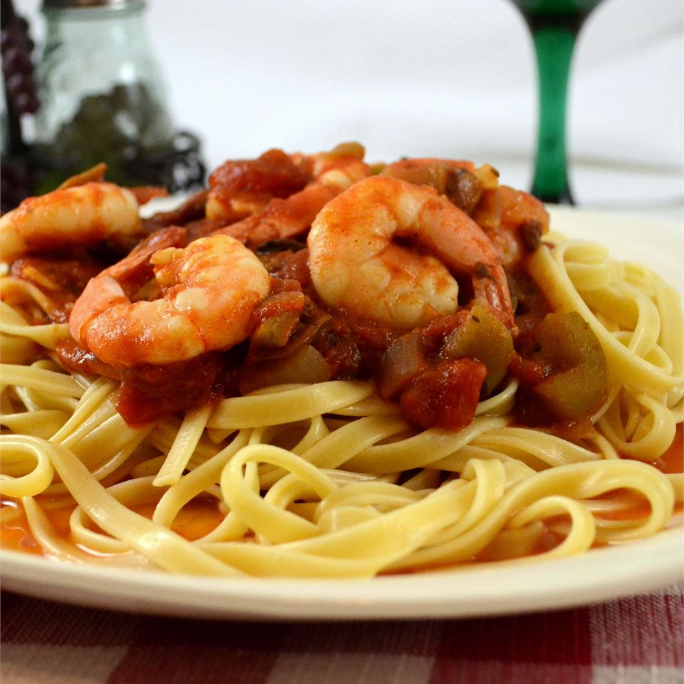 Spicy Shrimp Primavera