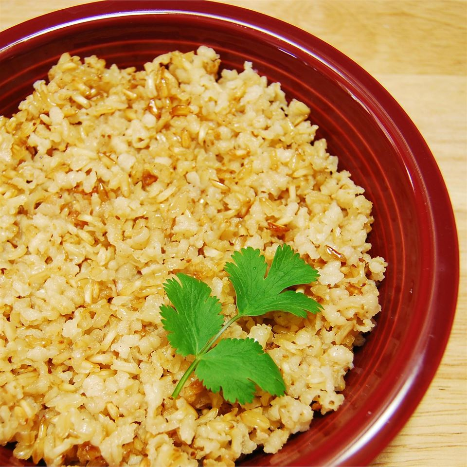 Baked Brown Rice Ashley Steele