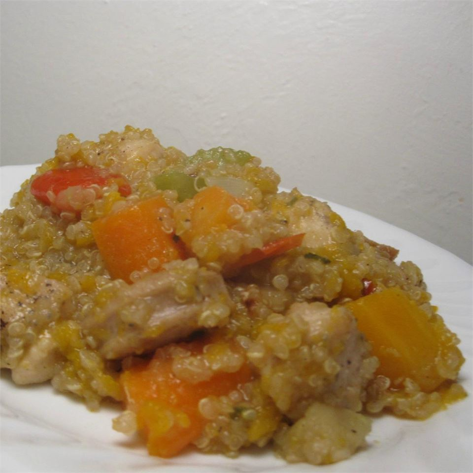 Stovetop Butternut Squash and Chicken Stew with Quinoa *~Lissa~*