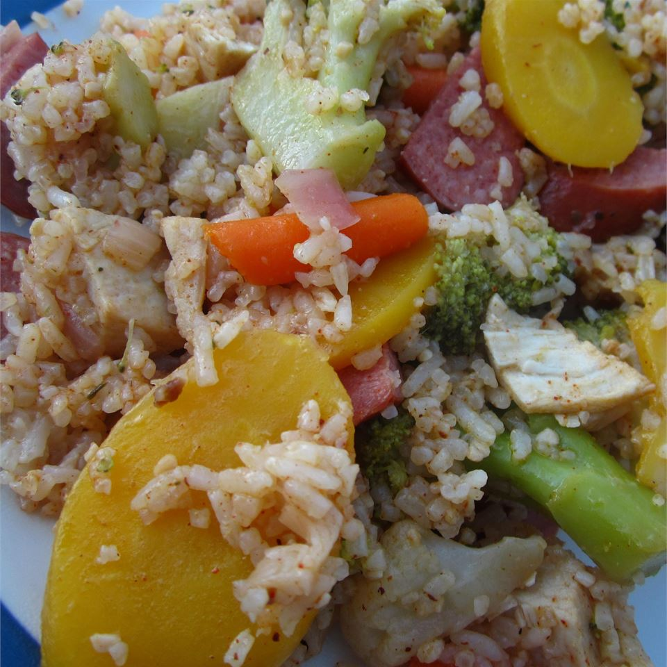 Hearty Garden Chicken and Rice JMCONARD