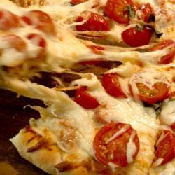Fresh Tomato and Basil Pizza image