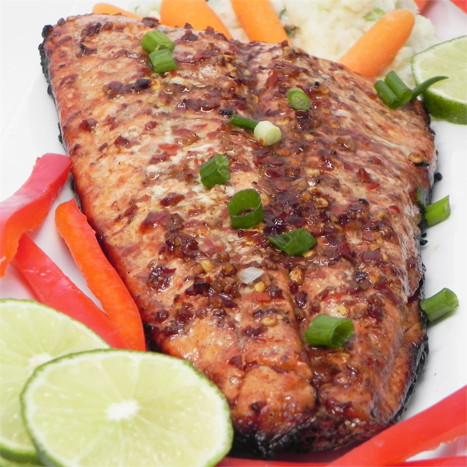 Firecracker Grilled Alaska Salmon - Printer Friendly