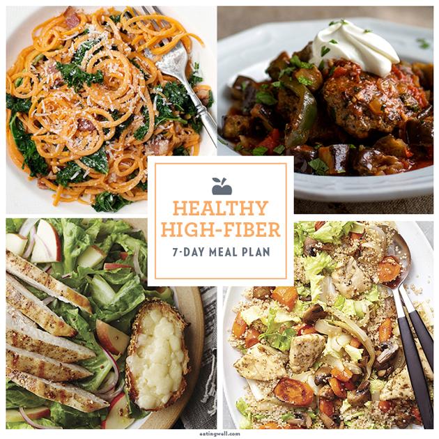 daily eating plan for high fiber diet