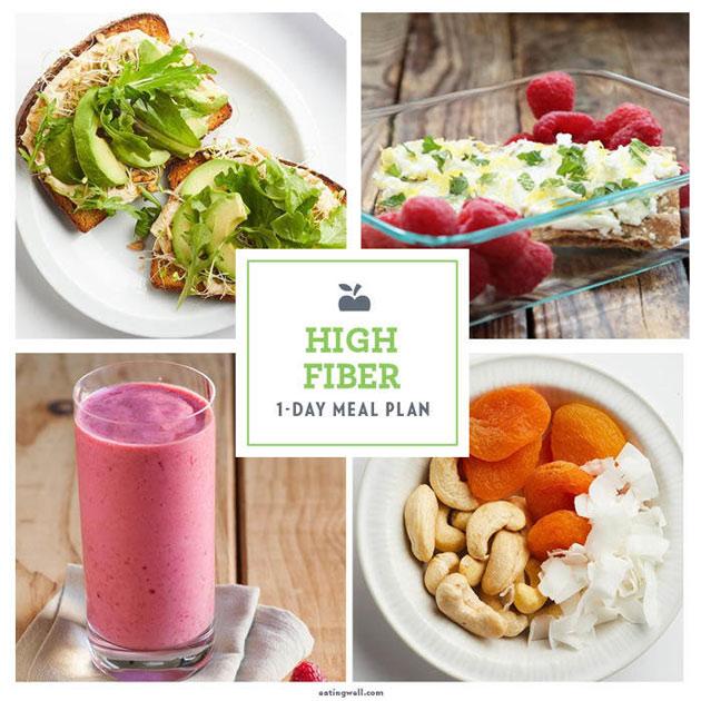1-Day High-Fiber Weight-Loss Meal Plan