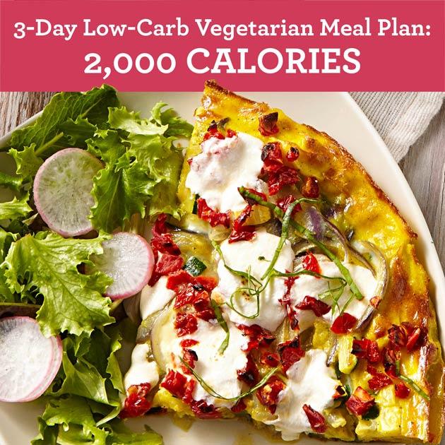 3-Day Low-Carb Vegetarian Meal Plan: 2,000 Calories